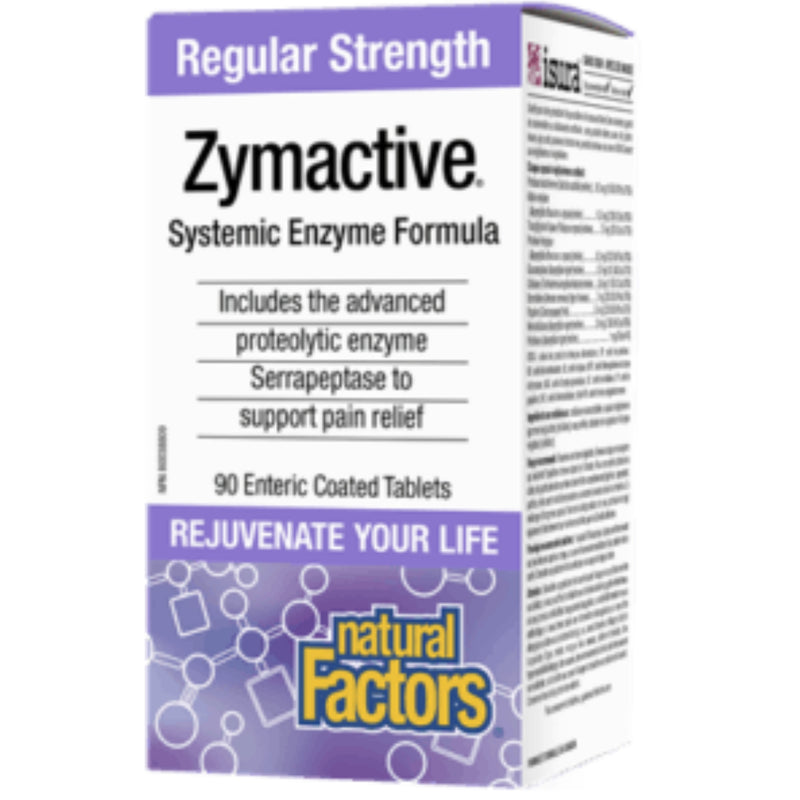 Natural Factors Double Strength Zymactive 90tabs