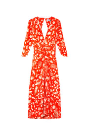 Rose - Virtues Of Rosemary Coral Midi Dress