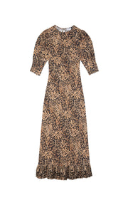 Jessie Leopard Spot Midi Dress