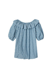 Bailey - Navy Gingham Nightdress