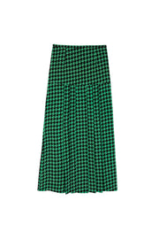 Nancy - Green and Black Dogtooth