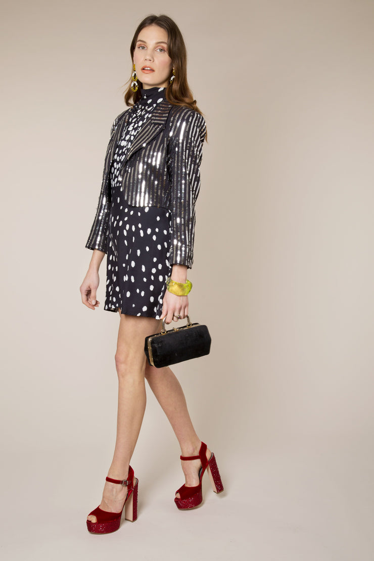 Charlie - Silver Sequin Stripe