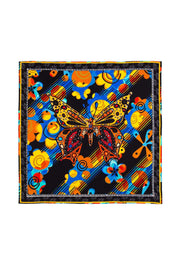 Jagger - Orange Blue Butterfly Scarf