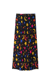 Nancy - Brushstroke Nightsky Multi Midi Skirt
