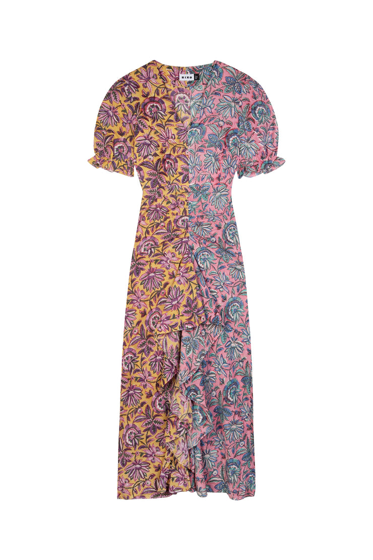 Ariel -  Pink City Paisley Midaxi Dress