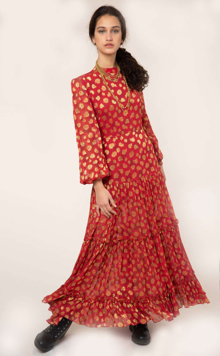 Anna - Red Gold Paisley