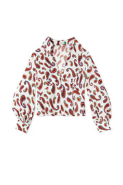 Daria - White Paisley Long Sleeve Shirt