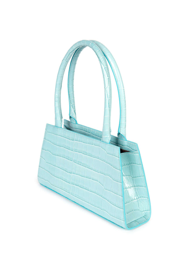 Dora - Ice Blue Mini Trapeze Tote
