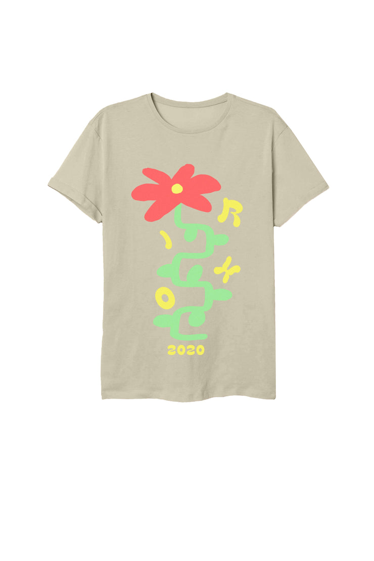 Everyone Deserves to Flower Khaki T-Shirt Refuge - Everyone Deserves to Flower T-Shirt