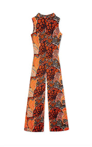 Frankie - 60s Swirls and Spots Roll Neck Jumpsuit