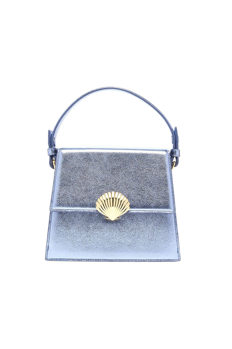 Jemima - Laguna Metallic Mini Trapeze Handbag With Chain