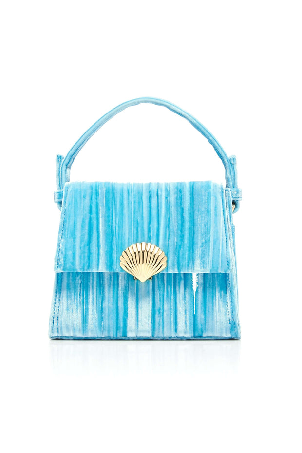 Jemima - Turquoise Mini Trapeze Handbag With Chain