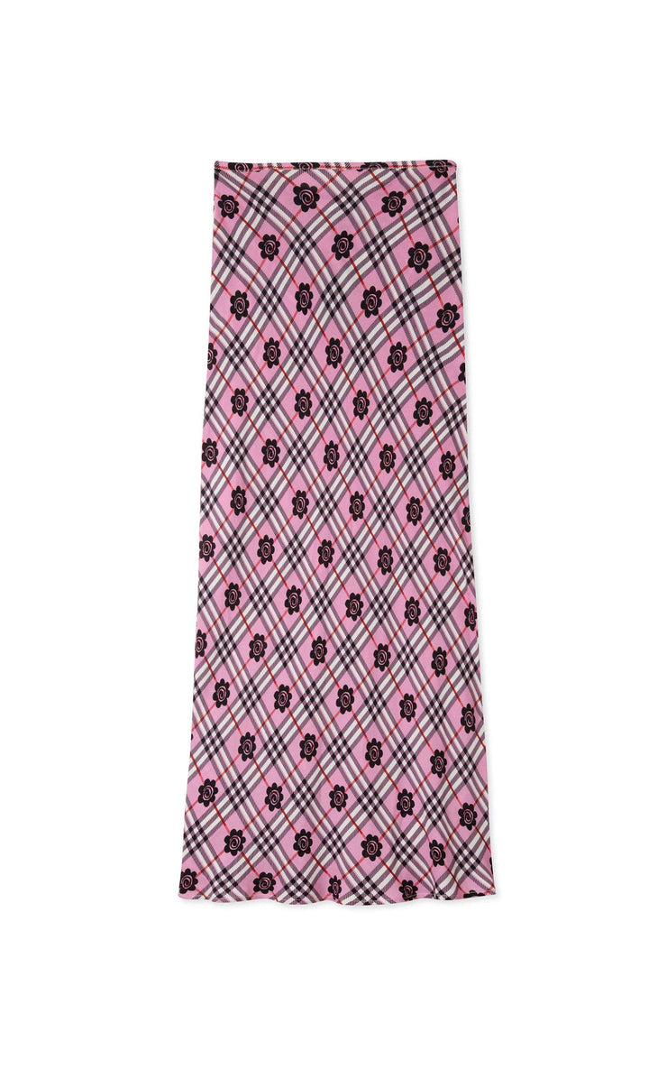 Kelly- Check Floral Pink Black