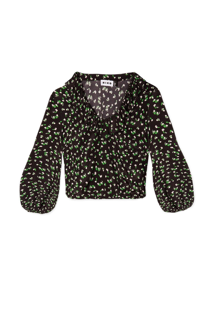 Kym- Ditsy Floral Long Sleeved Blouse