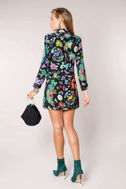 Lotus Mini Dress With Long Sleeves