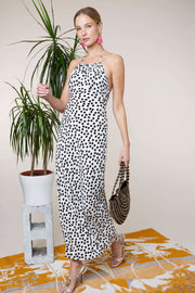 Marilyn - Polka Dot Halter Midi Dress