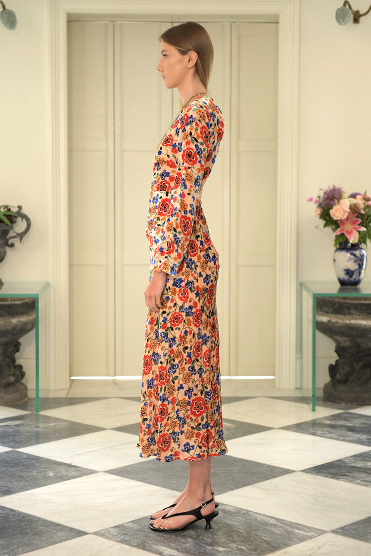 Mel - Swirl Floral Maxi Dress