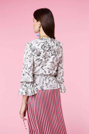 Roisin - Free as a Bird Ruffle Wrap Top