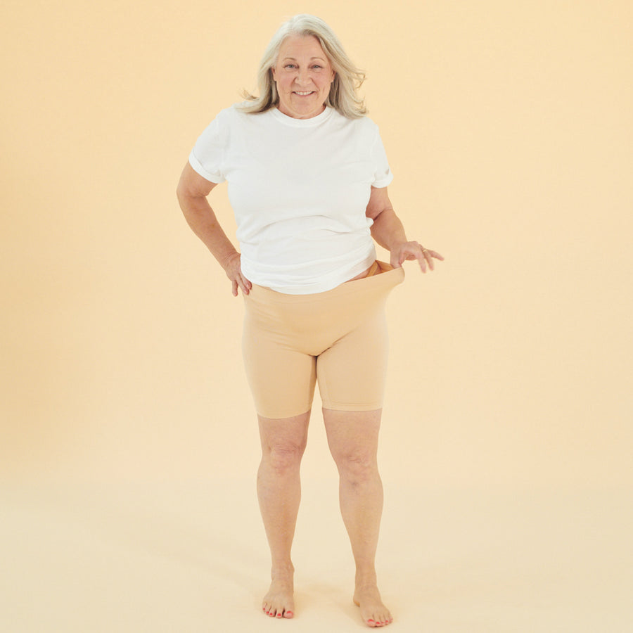 color:Beige|model:Luanne is 5'4 & wearing M/L Mid