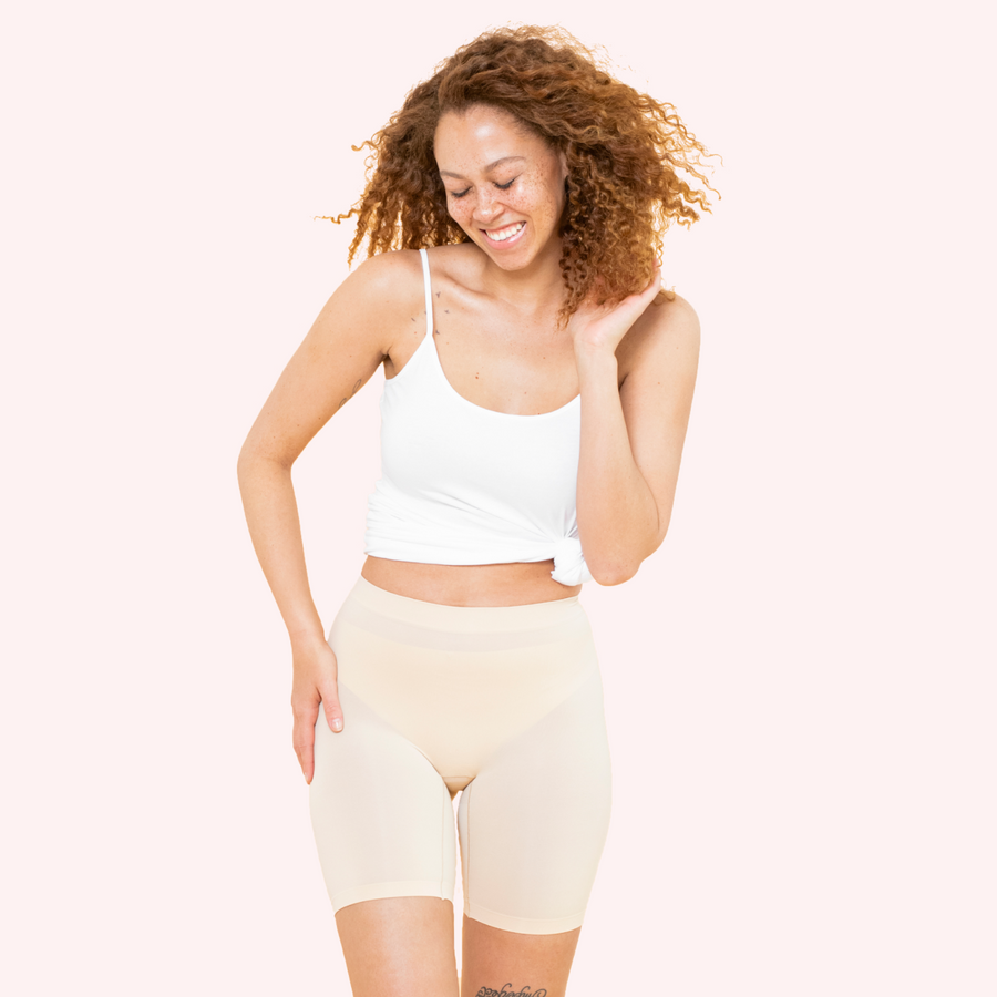 color:Beige|model:Truth is 5'8 and wearing S/M Mid