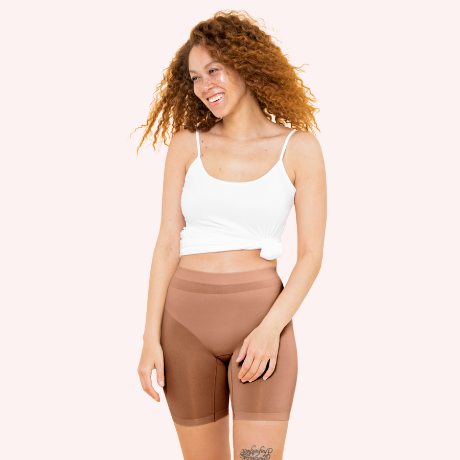 color:Cinnamon|model:Truth is 5'8 and wearing S/M Mid