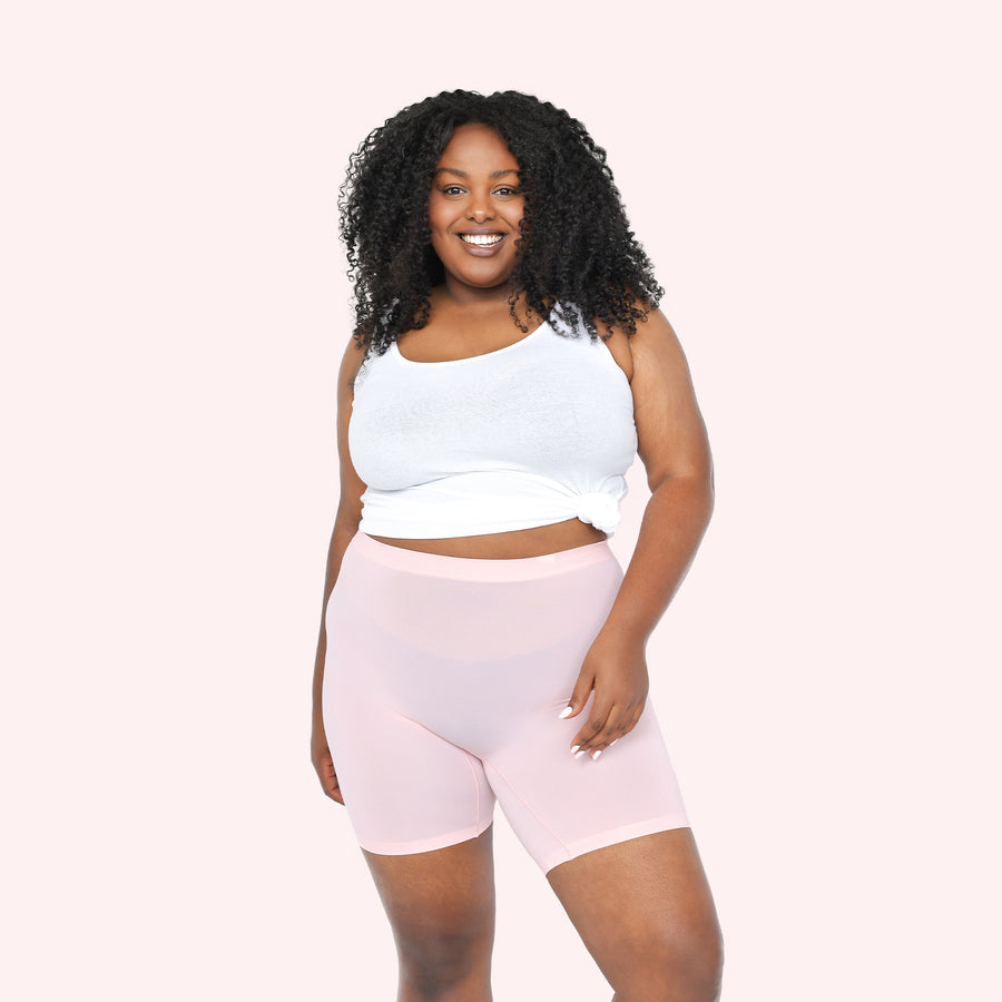 color:Light Pink|model:Bree is 5'8 and wearing L/XL Mid