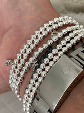 Load image into Gallery viewer, Sterling Silver Beaded Stretch Bracelet
