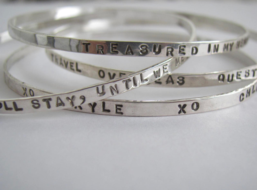 Sterling Silver Personalize Bangle