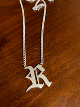 Load image into Gallery viewer, Sterling Silver Old English Curb Necklace