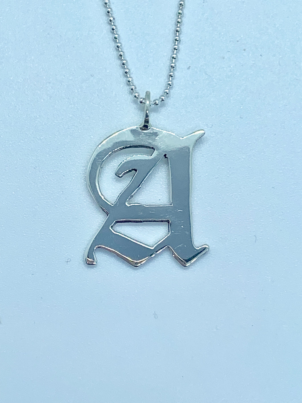 Sterling Silver Old English Necklace