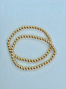 Gold Filled (8k gold) Bead Stretch Bracelet