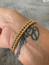 Load image into Gallery viewer, Gold Filled (8k gold) Bead Stretch Bracelet