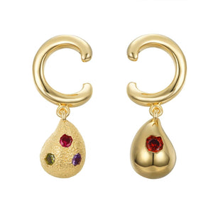Raindrop Earrings - C Shape