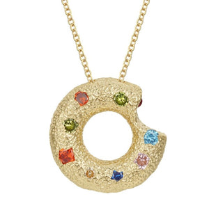 Halo Piece Multiple Style Pendant - Gold (Large)