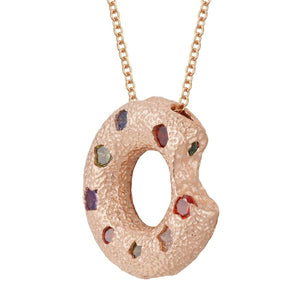 Halo Piece Multiple Style Pendant - Rose Gold (Small)