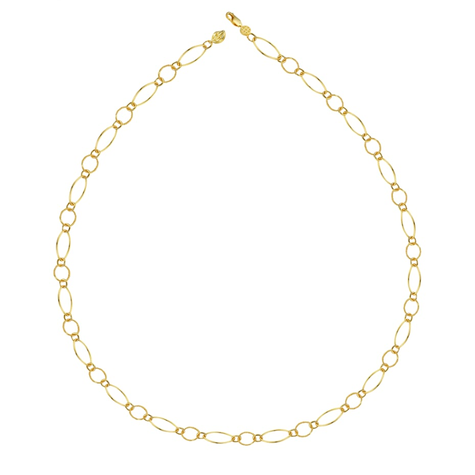 Blissful Time Necklace - Delicate Link Chain (Long)