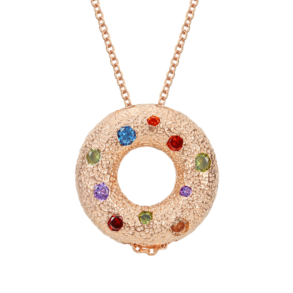 Halo Multiple Style Pendant - Rose Gold (Small)