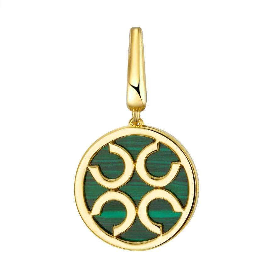Horseshoe Charm - Emerald