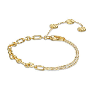 Blissful Time Bracelet - Double Chain
