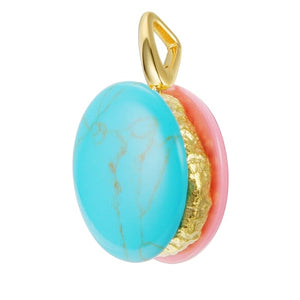 Macaroon Charm - Small Gold