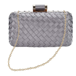Chic to Be Me Clutch - Gunmetal