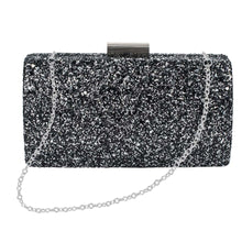 Load image into Gallery viewer, Midnight Shimmer Clutch