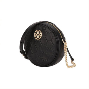 Quilted Impressions Round Bag - Black