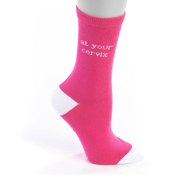 """At Your Cervix"" Unisex Nurse Socks"