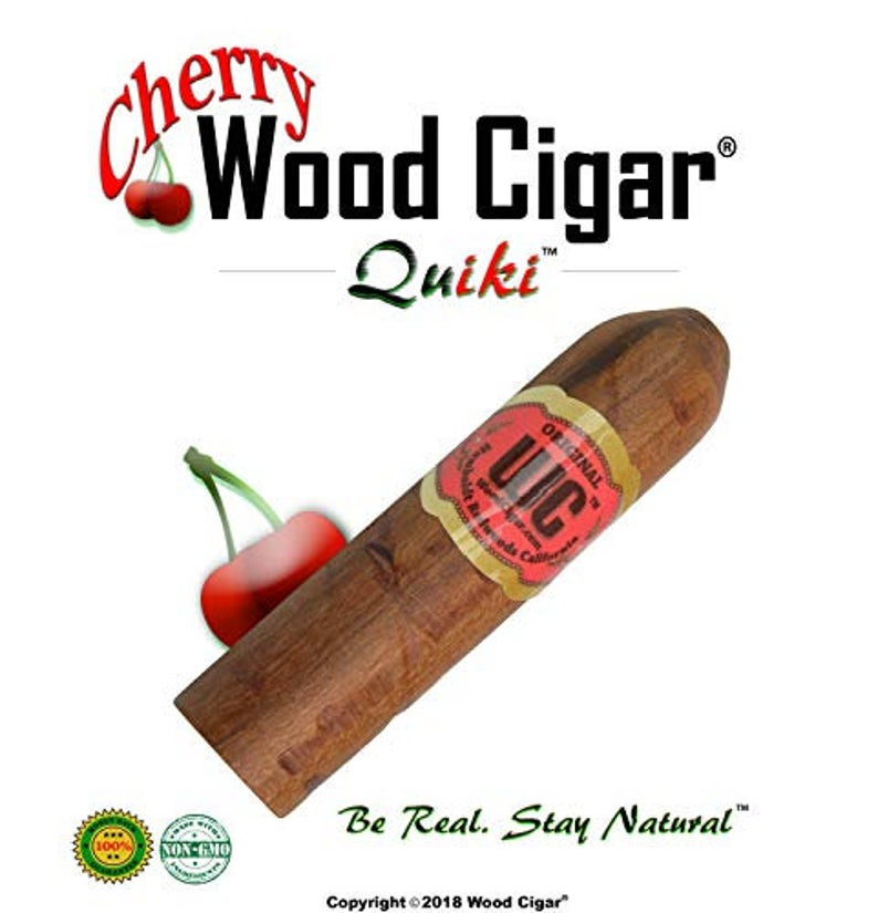 QuiKi™ Cherry Wood Pipe - 3 Inch