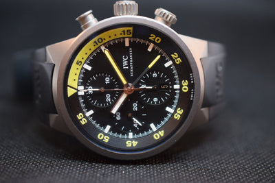 iwc acquatime split minute