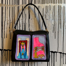 Load image into Gallery viewer, Hand Painted Tarot Card 1990s Vintage Gucci Bag