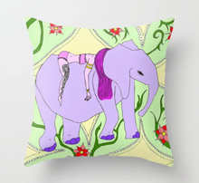 Load image into Gallery viewer, Sleeping Elephant Pillow