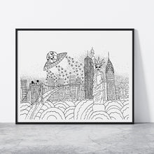 Load image into Gallery viewer, NYC Alien Attack Print