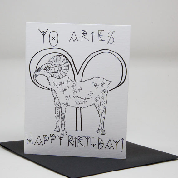 Yo Aries Card